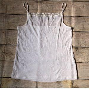 Sonoma White Lace Cami